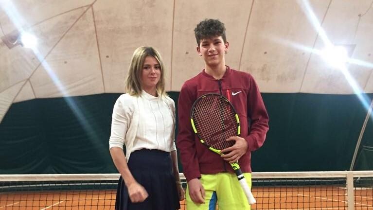 Camila Giorgi con Federico Lucini