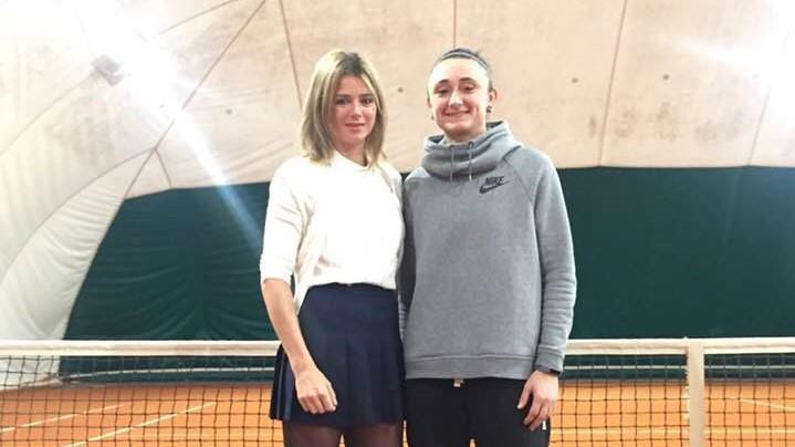 Camila Giorgi con Giorgia Nespoli