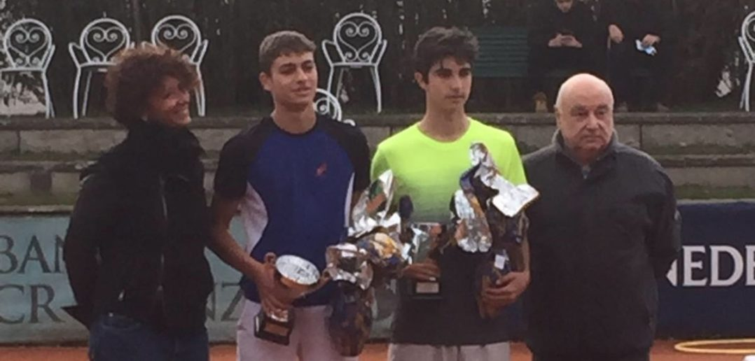 La premiazione di Rottoli e Cobolli all'Itf Junior di Firenze