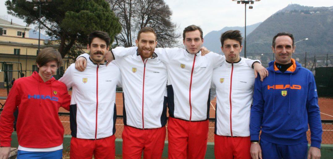 La formazione 2018 del Tennis Como