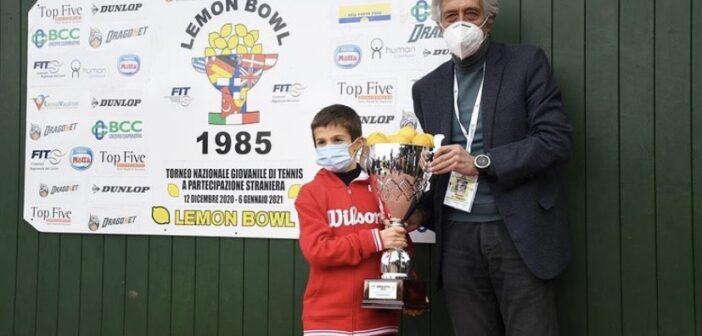 La premiazione dell'Under 10 al Lemon Bowl